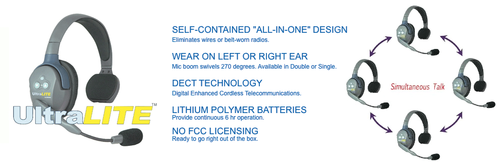 5ca3a2e13c7 Eartec Ultralite Talkback System UltraLITE are breakthrough full duplex wireless  headsets ...