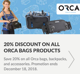 Save 20% on all Orca bags, backpacks and accessories. Promotion ends December 18, 2018.