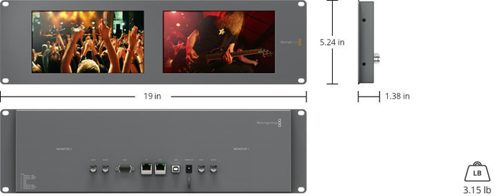 Blackmagic SmartView Duo specifications
