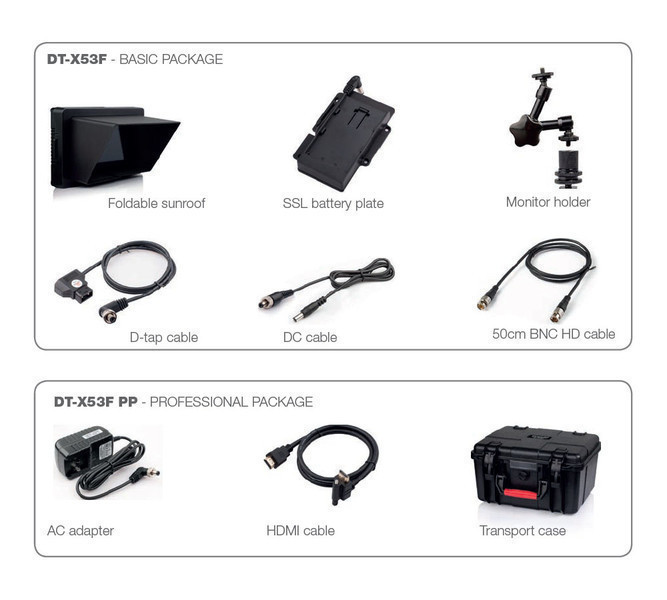 JVC DT-X53F accessories packages