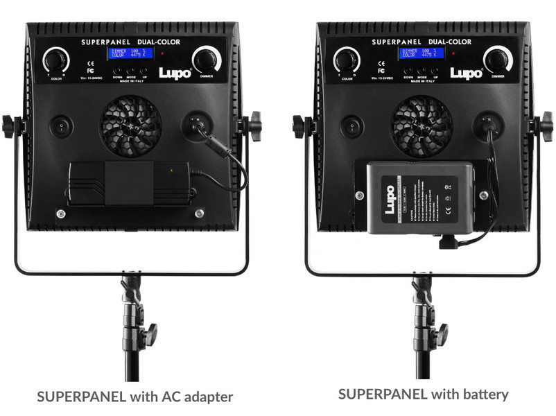 Lupo SUPERPANEL with AC adapter or with battery