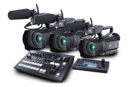 3x JVC HM250E and Roland V-60HD studio bundle