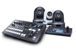 3x JVC PTZ and Roland V-60HD studio bundle