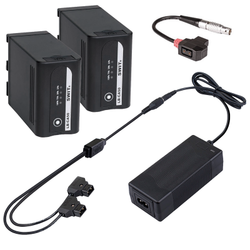 Swit LB-CA50 2KIT - 2x LB-CA50 Canon BP-A60 Replacement Battery, Dual D-Tap charger, D-Tap cable