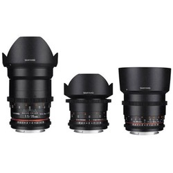 Samyang VDSLR Kit 2 - Canon EF (14 / 35 / 85mm + case)