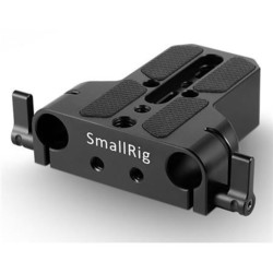 SmallRig 1674 Baseplate with Dual 15mm Rod Clamp