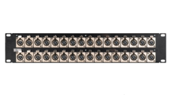 Canare 162U-X22 2RU XLR Connector Panel