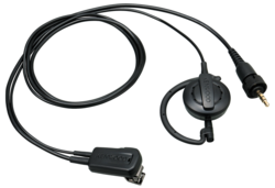 Kenwood EMC-14W Clip Microphone with Earphone (ear-hanging)