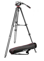 Manfrotto 502 Fluid Video Head & MVT502AM Alu Twin Leg Tripod