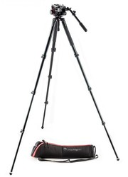 Manfrotto 504 Fluid Video Head & Alu Single Leg Tripod