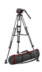 Manfrotto 504 Video Head with CF Twin Leg Tripod MS 100/75mm