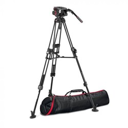 Manfrotto 509 Pro Video Head with 645 Fast Twin Alu Tripod