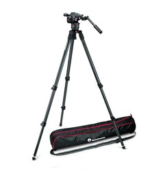 Manfrotto N8/535 (MVKN8C) - Manfrotto Nitrotech N8 Video Head & 535 2-Stage Carbon Fiber Tripod