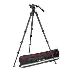 Manfrotto N8/536 (MVKN8CTALL) - Manfrotto Nitrotech N8 Video Head & 536 3-Stage Carbon Fiber Tripod