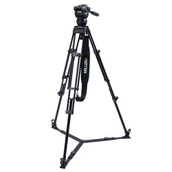 Miller 3720 CX6 TOGGLE - 2-Stage Alloy Tripod System with on ground spreader