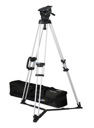 Miller 3155 ArrowX 7 Sprinter II 1-Stage Alloy Tripod System with Ground Spreader