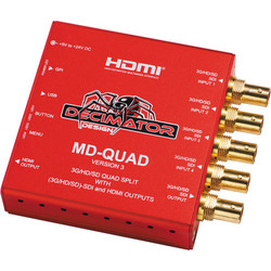 Decimator MD-QUAD 3G/HD/SD-SDI Quad Split Multi-Viewer