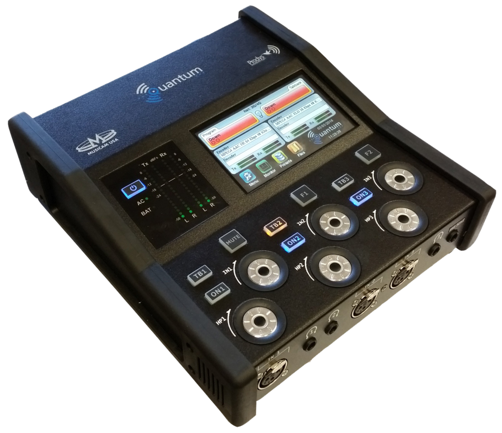 Prodys Quantum W portable double audio IP codec / commentary unit - VideoExpert.eu