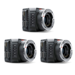 3x Blackmagic Micro Studio Camera 4K bundle