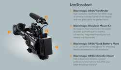 Blackmagic URSA Broadcast - ENG STARTER bundle