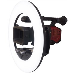 LEDGO Large Dimmable LED Ring Light for Use on Location/Studio
